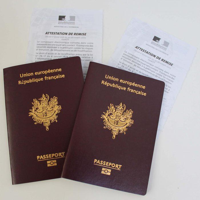 French passports - French language tests