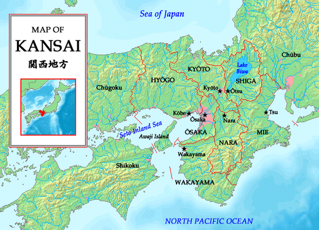 Quick and easy introduction to kansai japanese language trainers photo map of kansaivia wikipedia gumiabroncs Image collections