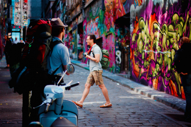 Hosier Lane by SalTheColourGeek/Flickr. Licensed under CC 2.0