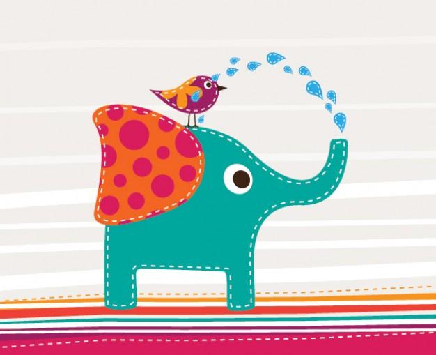elefante-lindo-y-el-pajaro_880658