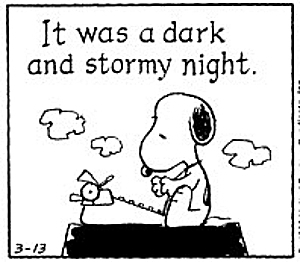 first line snoopy