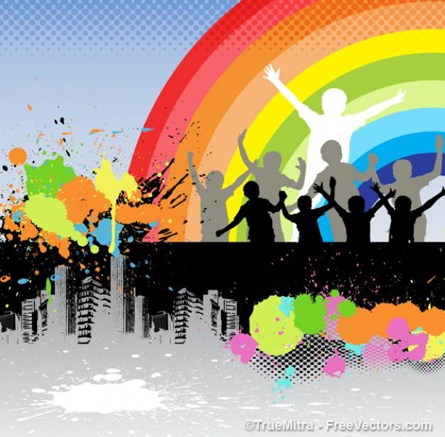 ninos-menores-de-arco-iris_275-5226