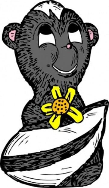 skunk-con-una-imagen-predisenada-de-flores_435265